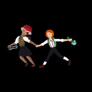 Kinder im Schwarzwald Mädchen und Junge in traditioneller Kleidung
